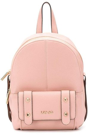 medium faux leather backpack