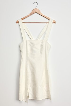 MINKPINK Exactly How You Are - LWD - Linen Little White Dress