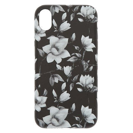 Black & White Floral Phone Case - Fits iPhone XR | Claire's US
