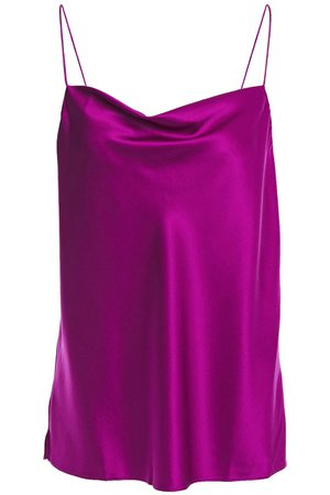 Violet The Axel draped silk-blend charmeuse camisole  | CAMI NYC |