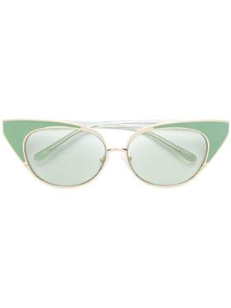 N°21 Nº 21 X Linda Farrow Cat-Eye Sunglasses N21S18C3SUN Green | Farfetch