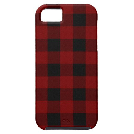 Red and Black Plaid Phone Case