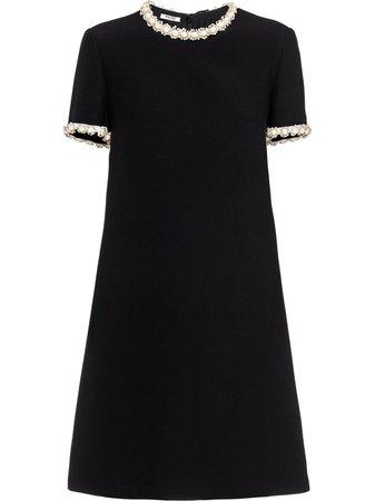 Miu Miu Cady embellished minidress black MF40711CSJ - Farfetch