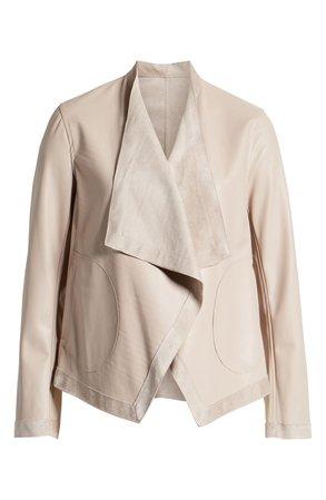 BB Dakota Teagan Reversible Faux Leather Drape Front Jacket | Nordstrom