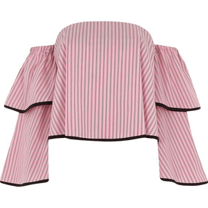 Woven fabric Stripe print Cropped length
