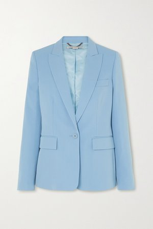 Blue Wool-blend twill blazer   Stella McCartney   NET-A-PORTER