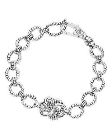 LAGOS Sterling Silver Love Knot Link Bracelet | Bloomingdale's