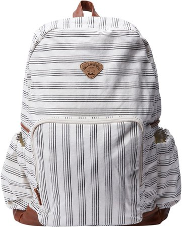 Home Abroad Stripe Canvas Backpack