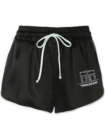 Off-White drawstring track shorts
