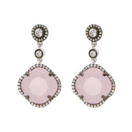Earrings   Shop Women's Black Sterling Silver Dangle Earring at Fashiontage   415124R