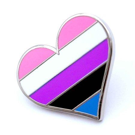 Gender Fluid Flag Enamel Pin - Dream in Plastic