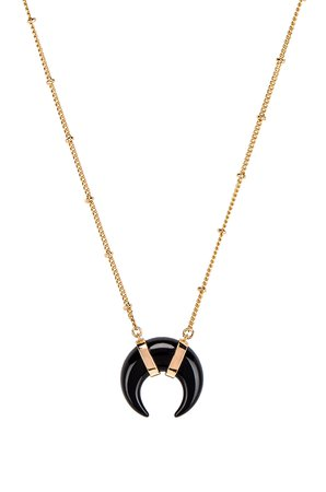 Cat's Eye Crescent Necklace