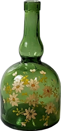 Green Glass bottle png