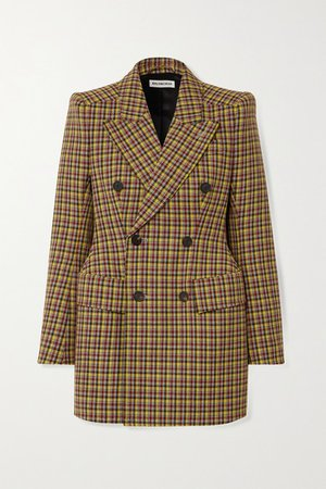 Balenciaga | Double-breasted checked wool blazer | NET-A-PORTER.COM