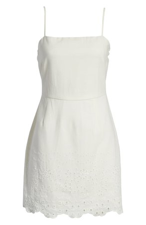 Row A Embroidered Sleeveless Minidress | Nordstrom