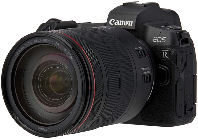 Canon EOS R Kit w/RF24-105LIS RKIT Compact System Camera 3.15 inches Black camera