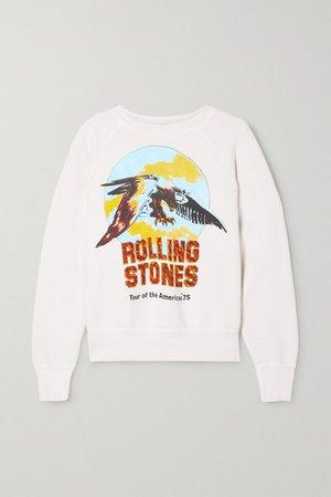 Rolling Stones Printed Cotton-jersey Sweatshirt - White