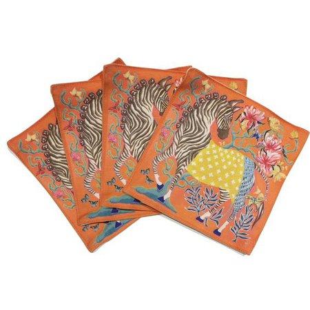 orange zebra coasters