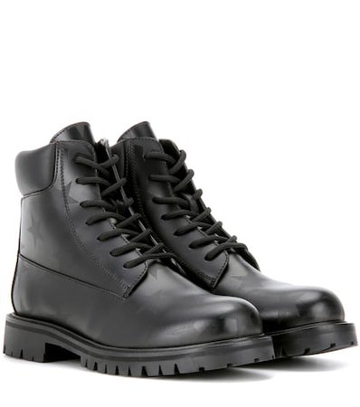 Valentino Garavani Printed leather ankle boots