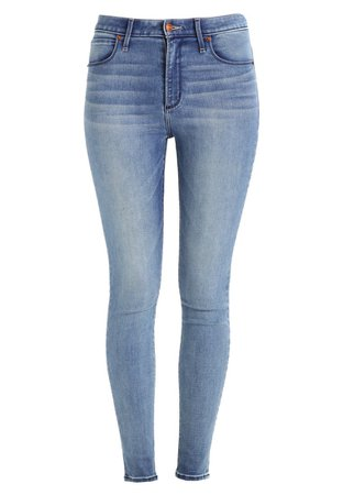 Abercrombie & Fitch HIGH RISE SUPER SKINNY - Jeans Skinny Fit