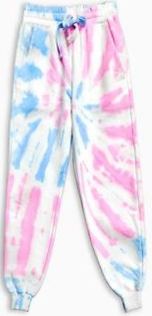 blue and pink joggers