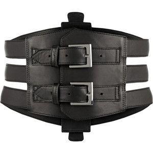 Kiki de Montparnasse Buckled leather waist belt