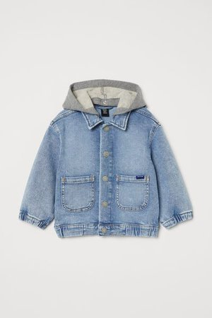 Hooded Denim Jacket - Light denim blue - Kids | H&M US