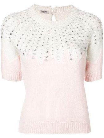 Miu Miu jewellery knit sweater