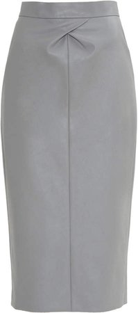 Anouki High Waisted Vegan Leather Peg Top Skirt