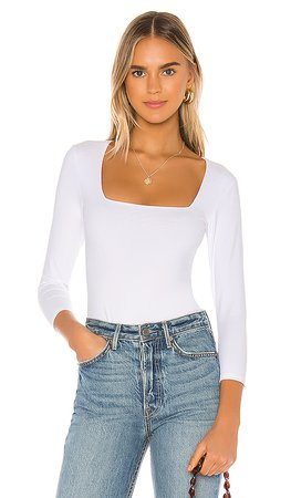 Free People Truth Or Square Bodysuit in White   REVOLVE