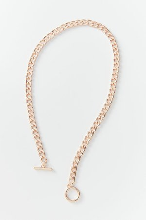 Chunky Curb Chain Toggle Necklace   Urban Outfitters