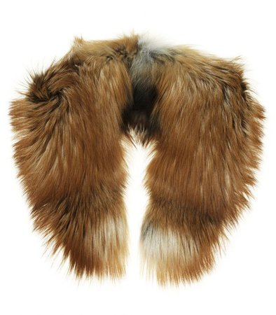 tan fur scarf - Google Search