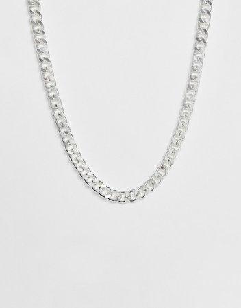 ASOS DESIGN short chunky chain in silver tone | ASOS