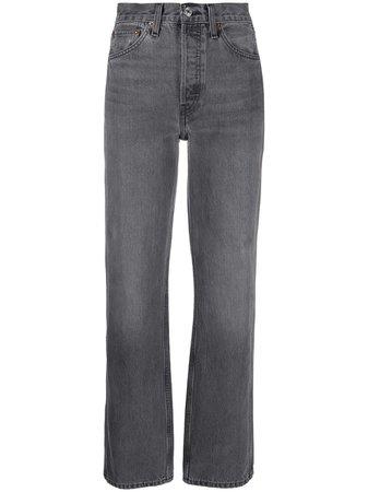 RE/DONE Jeans Con Tiro Alto - Farfetch