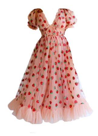 Strawberry Midi Dress