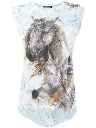 Balmain Horse Printed T-shirt - Farfetch