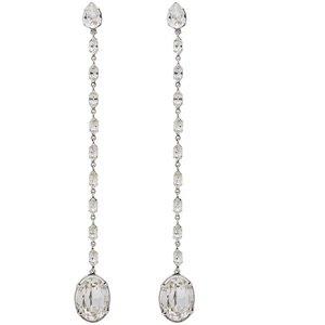 Saint Laurent Smoking crystal chain earrings $895