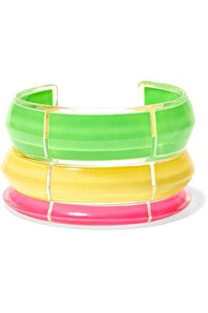 Alison Lou | Set de trois bracelets en acrylique Lucite et en émail Jelly | NET-A-PORTER.COM