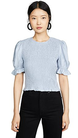 ENGLISH FACTORY Smocked Puff Sleeve Top | SHOPBOP