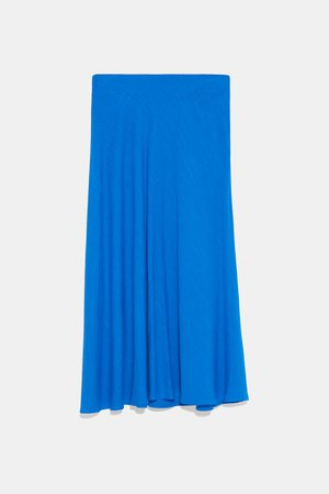 RUSTIC SKIRT - View All-SKIRTS-WOMAN | ZARA United States blue