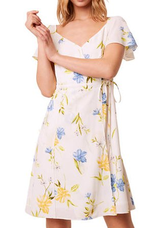 French Connection Floral Crepe Dress