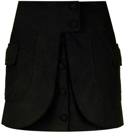 Andrea Bogosian layered leather skirt