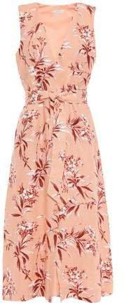 Ethelda Belted Floral-print Linen Midi Dress