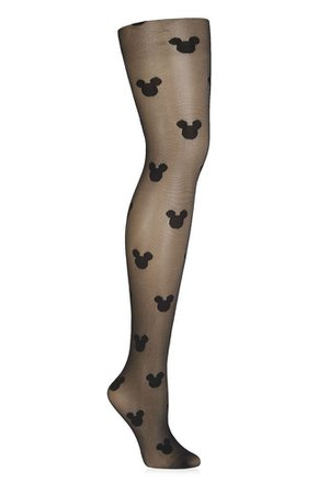black mickey mouse tights
