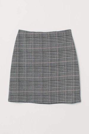 Short Jersey Skirt - Black