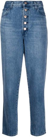 Heather high-rise straight leg jeans