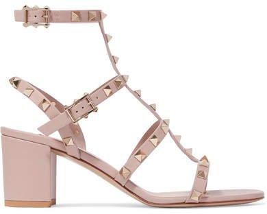 Garavani The Rockstud 55 Leather Sandals - Blush