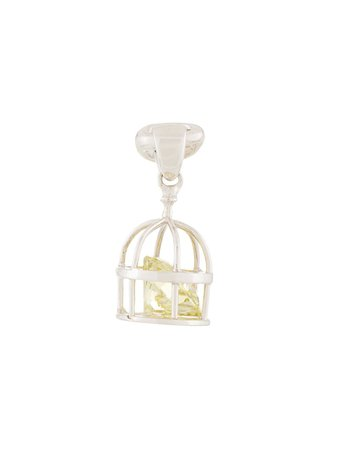 E.M. Caged Crystal Earring - Farfetch