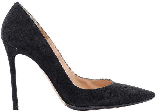 Gianvito Black Suede Heels