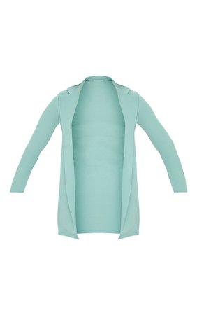 Green Longline Blazer | Coats & Jackets | PrettyLittleThing USA